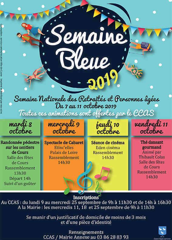 Le CCAS de Cosne organise la Semaine Bleue !